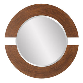 "Orbit Brushed Copper Mirror 38"" - Classy Mirrors"