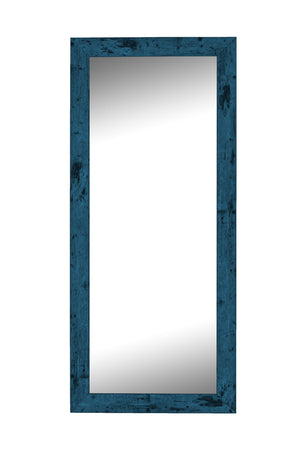 "Dorian Vintage Blue Mirror Traditional Mirrors Hitchcock Butterfield 21.75"" x 57.75"" No Bevel"