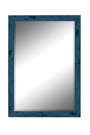 "Dorian Vintage Blue Mirror Traditional Mirrors Hitchcock Butterfield 24.75"" x 34.75"""