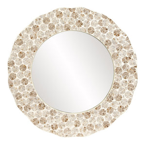 Antigua Round Shell Mirror Round Mirrors Howard Elliott