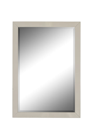 "Europa Contempo Brushed Satin Nickel Mirror Contemporary Mirrors Hitchcock Butterfield 24.75"" x 34.75"""