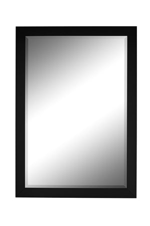 "Monaco Matte Black Mirror Traditional Mirrors Hitchcock Butterfield 25"" x 35"""