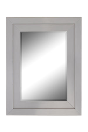 "Atrium Glossy Nickel Silver Mirror Contemporary Mirrors Hitchcock Butterfield 29.75"" x 39.75"""