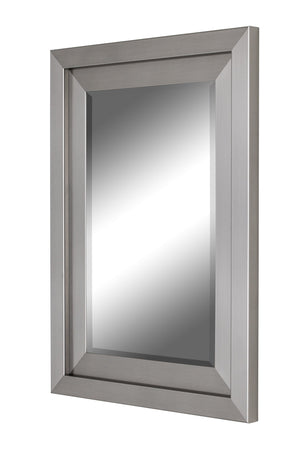 Atrium Glossy Nickel Silver Mirror Contemporary Mirrors Hitchcock Butterfield