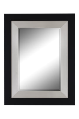 Black and Brushed Nickel Contemporary Mirror - Classy Mirrors