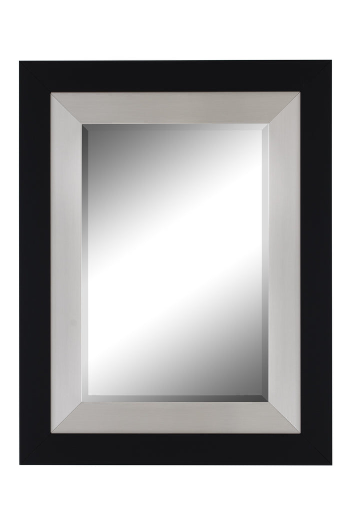 Black and Brushed Nickel Contemporary Mirror