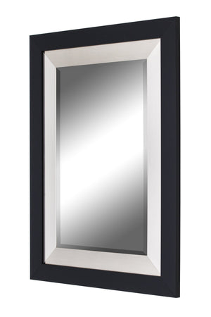 Black and Brushed Nickel Contemporary Mirror Large Mirrors and Leaner Mirrors Hitchcock Butterfield