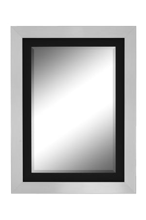 "Citadel Nickel and Black Mirror Silver Mirrors Hitchcock Butterfield 28.25"" x 38.25"""