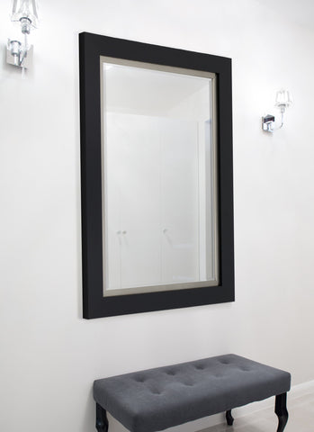 Nuevo II Metallic Satin Black Mirror Black Mirrors Hitchcock Butterfield