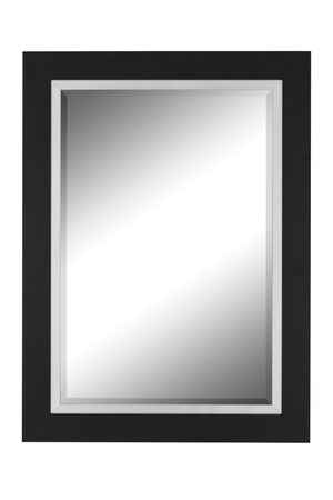 "Nuevo II Metallic Satin Black Mirror Black Mirrors Hitchcock Butterfield 31.25"" x 43.25"""