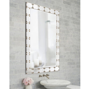 Remington Studded Mirror Contemporary Mirrors Howard Elliott