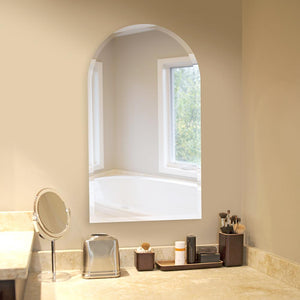 "Frameless Arched Mirror 19""x32""x1"" Arch Mirrors Howard Elliott"