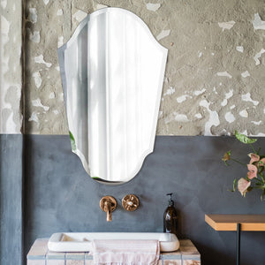 Frameless Arched Vanity Mirror Howard Elliott