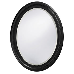 George Matte Black Oval Mirror Black Mirrors Howard Elliott