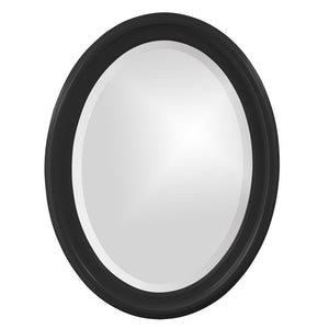 George Oval Mirror Bathroom Mirrors Howard Elliott Glossy Black