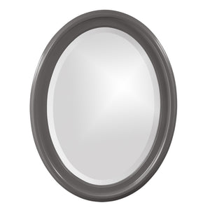 George Oval Mirror Bathroom Mirrors Howard Elliott Glossy Charcoal Gray