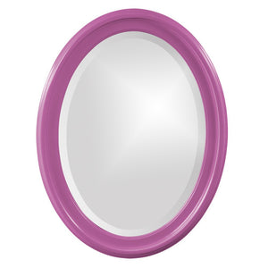 George Oval Mirror Bathroom Mirrors Howard Elliott Glossy Hot Pink