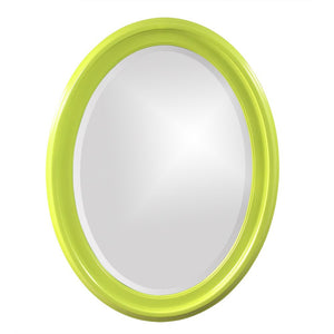 George Oval Mirror Bathroom Mirrors Howard Elliott Glossy Green