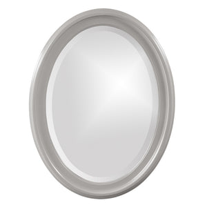 George Oval Mirror Bathroom Mirrors Howard Elliott Glossy Nickel