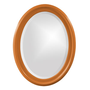 George Oval Mirror Bathroom Mirrors Howard Elliott Glossy Orange
