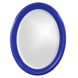 George Oval Mirror Bathroom Mirrors Howard Elliott Glossy Royal Blue