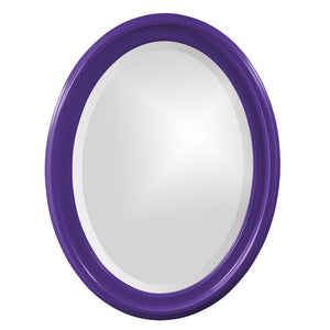 George Oval Mirror Bathroom Mirrors Howard Elliott Glossy Royal Purple