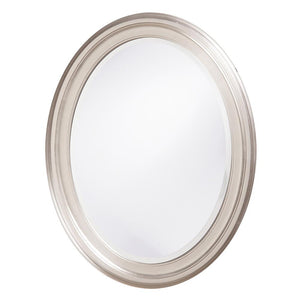 George Brushed Nickel Oval Mirror Bathroom Mirrors Howard Elliott