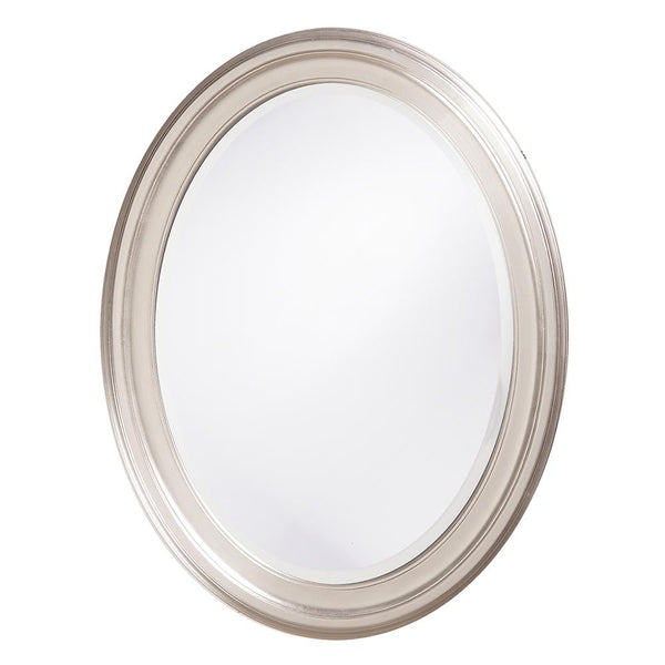 George Brushed Nickel Oval Mirror - Classy Mirrors