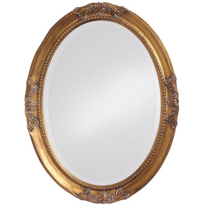 Queen Ann Gold Oval Mirror Bathroom Mirrors Howard Elliott