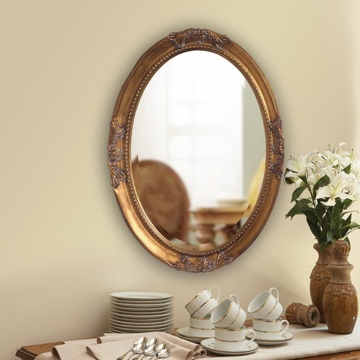 Queen Ann Gold Oval Mirror