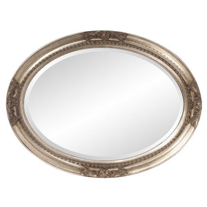 Queen Ann Antique Silver Oval Mirror Bathroom Mirrors Howard Elliott