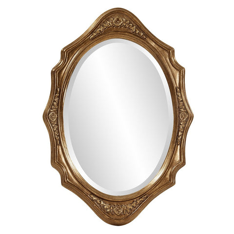 Trafalga Gold Leaf Mirror Oval Mirrors Howard Elliott