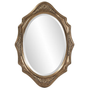 Trafalga Virginia Silver Leaf Mirror Oval Mirrors Howard Elliott