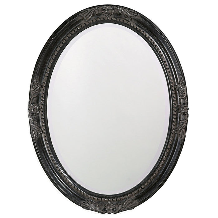 Queen Ann Black Oval Mirror