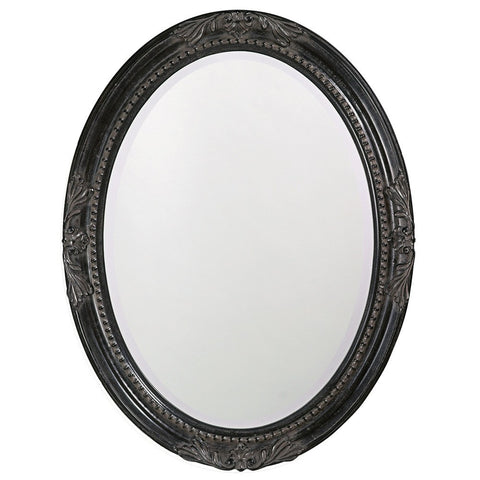 Queen Ann Black Oval Mirror Bathroom Mirrors Howard Elliott