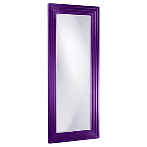 Elano Leaner Mirrors Large Mirrors and Leaner Mirrors Howard Elliott Glossy Royal Purple