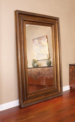 Baxter Antique Gold and Copper Mirror Large Mirrors and Leaner Mirrors Howard Elliott