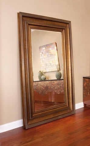 "Baxter Antique Gold and Copper Mirror 58""x90""x3"" - Classy Mirrors"