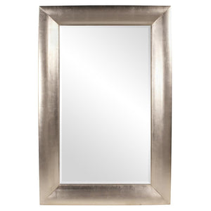 Barron Bright Silver Leaf Mirror Contemporary Mirrors Howard Elliott