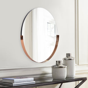 Dante Round Rose Gold Mirror Classy Mirrors