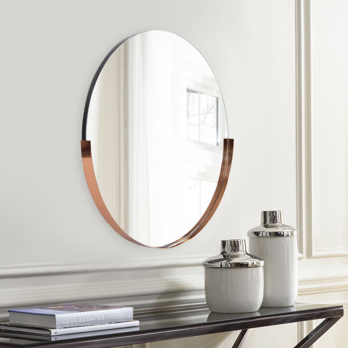 Dante Round Rose Gold Mirror