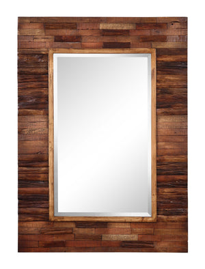 "Blakely Rectangular Natural Wood Mirror 30""x42"" Rustic Mirrors Cooper Classics"
