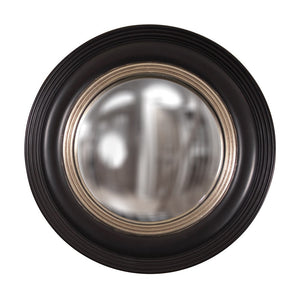 Soho Convex Round Mirrors Decorative Mirrors Howard Elliott Matte Black Lacquer
