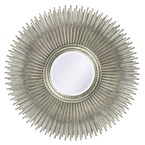 Tilly Silver Leaf Mirror Round Mirrors Howard Elliott