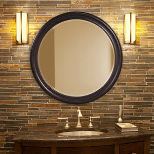 George Classic Round Mirror Bronze Mirrors Howard Elliott