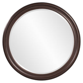 "George Chocolate Brown Round Mirror 36""x1"" - Classy Mirrors"