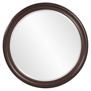George Chocolate Brown Round Mirror Brown Mirrors Howard Elliott