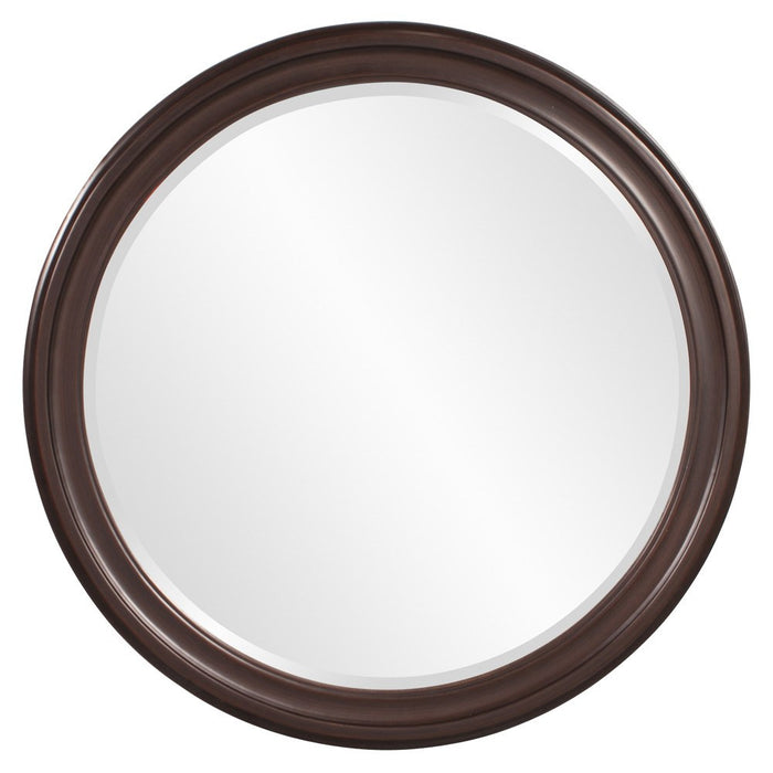 George Chocolate Brown Round Mirror