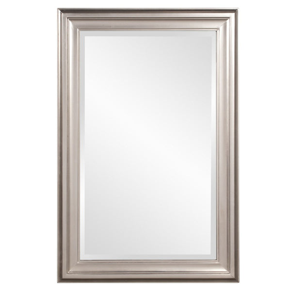 "George Brushed Nickel Mirror 24""x36""x1"" - Classy Mirrors"