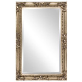 Queen Ann Rectangular Antique Silver Mirror Howard Elliott